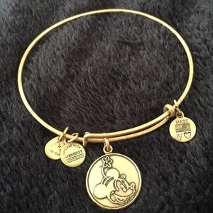 Accessories - Alex and Ani gold Minnie Mouse bracelet :))